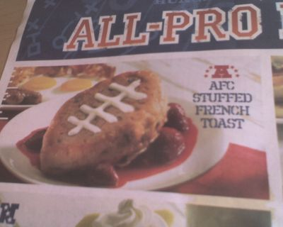 IHOP NFL-themed stuffed French toast, oh dear God