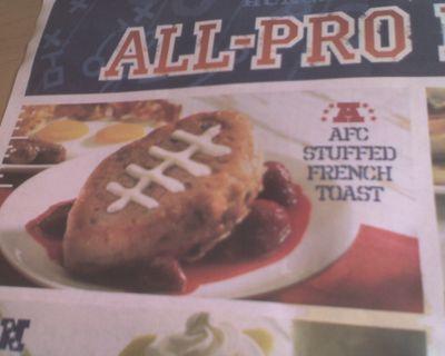 IHOP NFL-themed stuffed French toast, oh dear God
