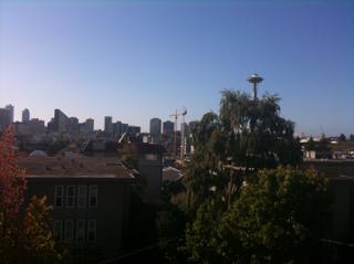 Beautiful morning in Seattle