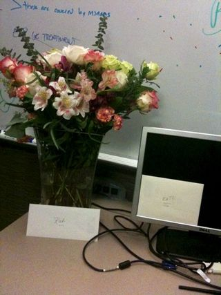 Katharine's 40th birthday: Office desktop