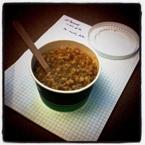 Microsoft café oatmeal is really friggin' hot