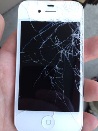 The iPhone, she is broke