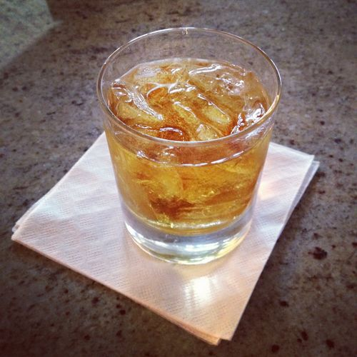 Maker's Mark on the rocks.
