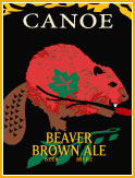 CANOE Beaver Brown Ale label