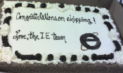 Stolen image of congrats cake Microsoft IE team sent to Firefox team