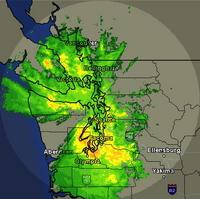 weather radar snapshot 06/17/05 00:09 pdt