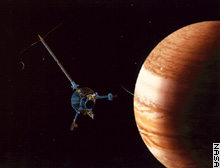 Galileo arrived in Jupiter orbit in December 1995