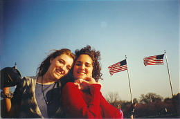 Holly Thomas, left, and Lori Soares in a photo from their high school days