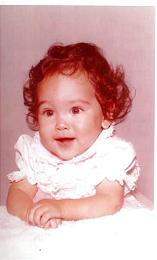 Lori as a baby