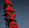 Ray's Boathouse and Café landmark neon sign